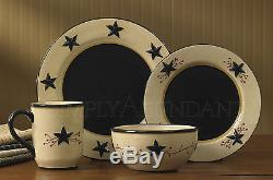 Star Vine Dinnerware by Park Designs, Country Star, Vine & Berry Pattern, Sets