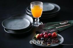 Stoneware Dinnerware Organic Set, 16 Pieces Set (Service for 4)