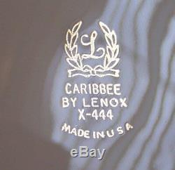 Stunning Vintage Set Of 6 Lenox X-444 Caribbee 10 5/8 Dinner Plates