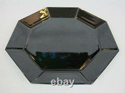 Superb 80's vintage ARC Arcoroc Black Dinner Service / Set. 8 plates bowls cups