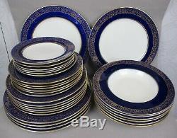 Superb rare antique/vintage MINTON cobalt blue sphinx Dinner Plate Set / Service