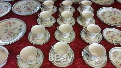 Superb set of Lenox Morning Blossom Dinnerware Dishes Plates China 53 Pieces