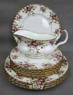 Superb vintage Royal Albert Cottage Garden DINNER SET / SERVICE. Plates