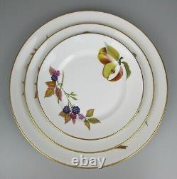 Superb vtg Royal Worcester Evesham Dinner Plate Service / Set. 6 place setting