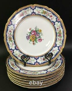 T&V Limoges France La Cloche Floral Dinner Set 7 Plates 11