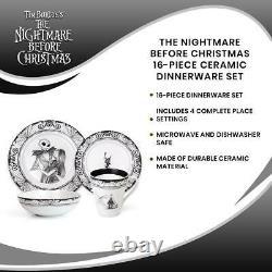 The Nightmare Before Christmas 16-Piece Ceramic Dinnerware Set