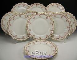 Theodore Haviland 319 Pink Drop Rose Wreath Swag Dinner Plates 9.75 Set Of 12