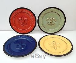 Tuscany Fleur De Lis 10 Dinner Plate (Set of 4)