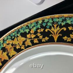 VERSACE by ROSENTHAL Fine Porcelain GOLD IVY China 6 Piece Dinner Set With Boxes