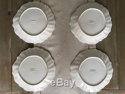 VIETRI INCANTO STONE LINEN RUFFLE DINNER PLATES-Set Of 4