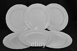 VILLEROY & BOCH Manoir White Dinner Plate Set/6 New