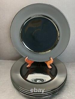VTG Rosenthal Studio Line Porcelaine Noire Tapio Wirkkala Dinner Plates Set Of 6