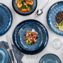 Vancasso Starry Glazed Dinnerware Set 24-Piece Bowls Plates Stoneware Tableware