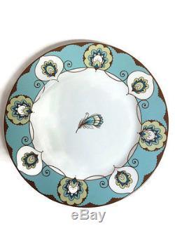 Vera Bradley 10 Dinner Plate Set Peacock Pattern RETIRED