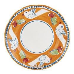 Vietri Uccello Dinner Plate Set of 4