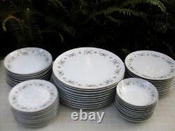 Vintage 1961+ NORITAKE Japan 6214 WELLESLEY 50pc Porcelain Dinner Set -Australia
