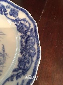 Vintage Cauldron Turkey Platter with 12 matching Dinner Turkey Plates, Rare Set