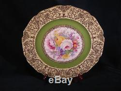 Vintage Czech Bohemia Dinner Plates Set Of 8 Pieces 10 1/2 Diameter