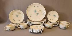 Vintage Franciscan Starburst China 26 piece Set. 6 Dinner Plates + Extras