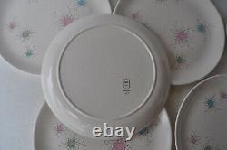 Vintage Grant Crest Tempo Mid Century Modern 10 Dinner Plates Set of 6