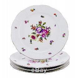 Vintage Herend Bouquet De Herend Decor Dinner Plates Set of Four