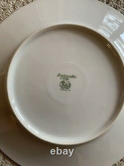 Vintage Hutschenreuther Selb Bavaria Gold Leaf Dinner Service Plates Set Of 12
