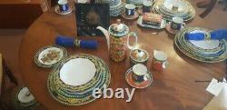 Vintage Original Versace Rosenthal Dinner & Coffee Setting for 8