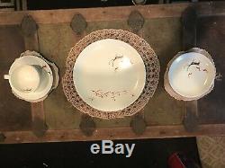 Vintage Primitive Salem Free Form Mid Century Modern Deer Dish Set 17 Pcs