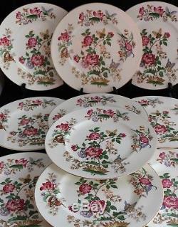 Vintage set 10 Wedgwood Charnwood WD3984 Bone China Dinner Plates 10 3/4