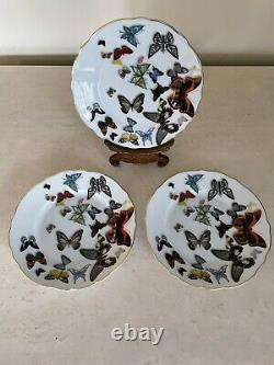Vista Alegre Christian Lacroix Butterfly Parade Plate 6 5/8 Set Of 3 NEW! TAGS