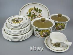Vtg 1960's retro Midwinter Meadowsweet Dinner Service Set. 6 place/plate setting