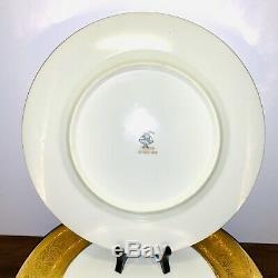 Vtg Hutschenreuther Selb Royal Bavarian 22K Gold Band Plates 10 3/4 Set Of 7