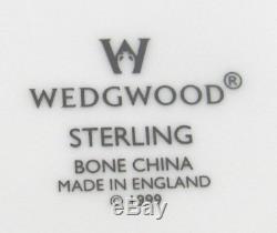 Wedgwood Bone China Set in Sterling Pattern. 12 Dinner Plates plus