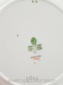 Wedgwood England BIDEFORD TURQUOISE HAND ENAMELED 10-7/8 DINNER PLATES Set 16
