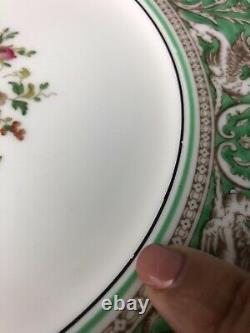 Wedgwood FLORENTINE Green 10-5/8 Dinner Plates Set Of 12 Plates