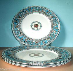 Wedgwood FLORENTINE TURQUOISE Dinner Plate SET of 4 Made in UK New