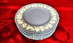 Wedgwood Queensware CREAM on LAVENDER SHELL 10-1/2 DINNER PLATES Set of 8