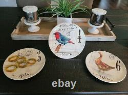 Williams Sonoma 12 Days of Christmas 8.5 Plates with Box, Complete Set