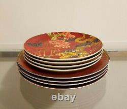Williams Sonoma Lunar New Year Dinner Plates & Salad Plates Set of 8 Mixed NEW