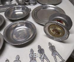 Wilton Columbia PA 1776 Dinner Plate Bowl Set Lot Pewter