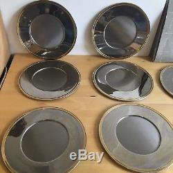 X14 Guy Degrenne France Heavy Weighted Underplat Silver Dinner Set 30cm LLT