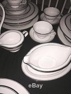ZYLSTRA china SILVER ECSTASY pattern 55-Piece Set Service for 8 dinner fruit +